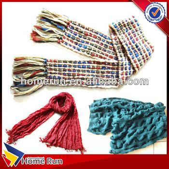 2015 Wholesale winter hot fashion knitted scarf / knitted round scarf