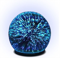 Ball shaped rainbow 3D glass firework ultrasonic electronic aroma diffuser