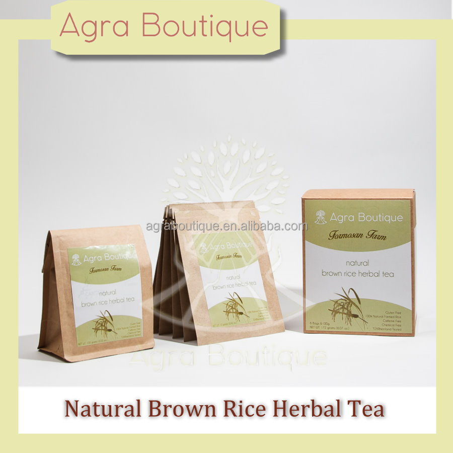 Top quality No caffeine Brown Rice with paper bag Slimming Tea for Japanese