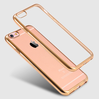 Luxury Style Plating Gilded TPU Soft Silicone Phone Case For iPhone 6 6s Thin Chrome Electroplating Back Cover