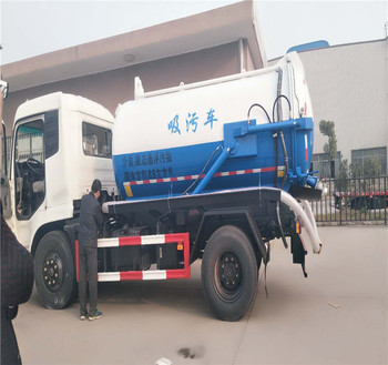 10L cubic meters vacuum sewage suction truck for sale