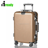 shenzhen Golden striped Funky military travel luggage