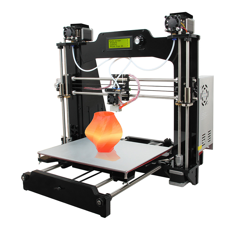 Geeetech new large multifunctional 2-in-1-out switchable hotend prusa I3 3d printer