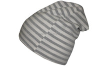 Exquisite striped knitted baggy cap chemo hat for retail sale