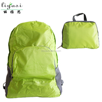 Large Capacity 210D Ripstop Polyester Foldable Travel Backpack Leisure Sports Bag
