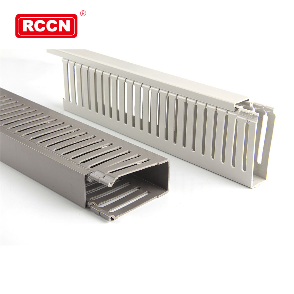 High-End CE Approved White/Grey Solid/Slotted PVC Wiring Duct