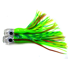 Trolling lure head resin head PVC skirts big game fishing lures Octopus trolling lures