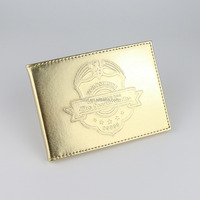 New style golden funny pu leather photo frame