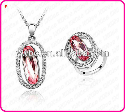 decoration set ruby latest jewellery designs (T100516)