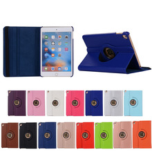 For Apple iPad Mini 5 Cover, Lichee Pattern Colorful PU Leather TPU Stand Rotation Cases