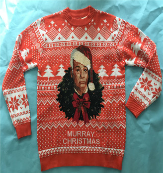 knitwear manufacturer custom latest design christmas sweater for man