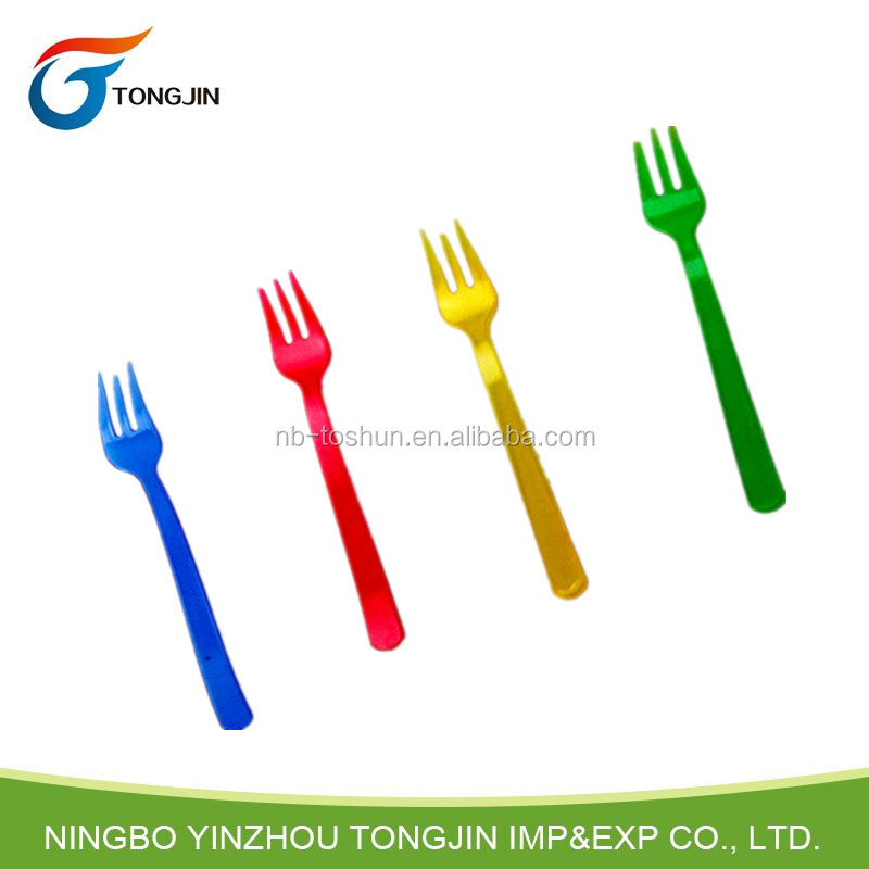 24PK cheap disposable plastic cocktail forks