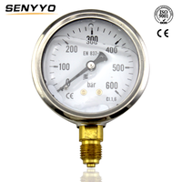 CE Certificate Glycerin Oil Filled Promotional Water Well Pressure Gauge