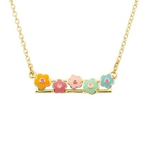Flower Shape 925 Sterling Silver Children And Baby Necklace Jewelry