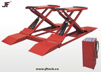 Safety-Oriented Design scissor lift for motorcycle