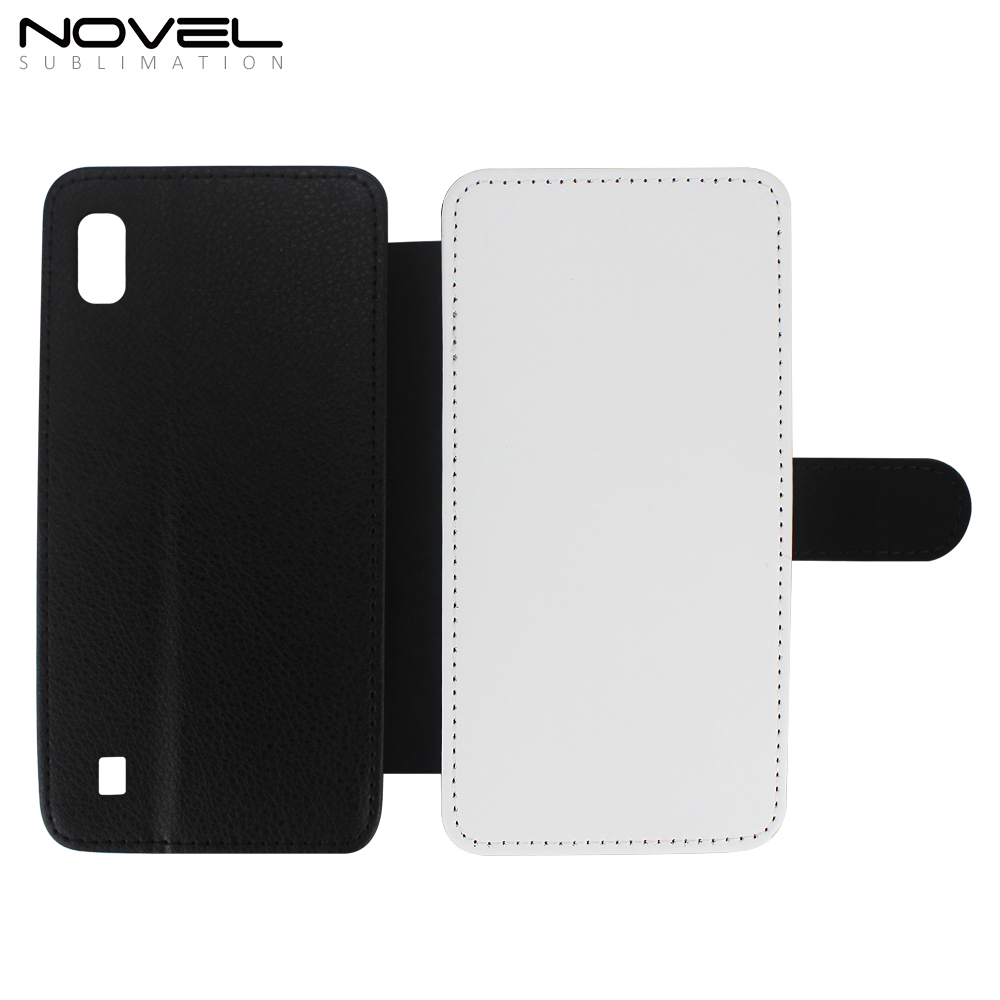 Universal blank sublimation printing leather phone case for Samsung Galaxy <strong>A10</strong> ,Sublimation Blank Flip Case Wallet