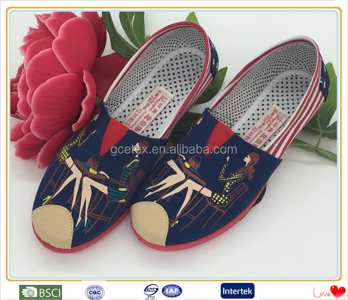 Famous beijing cloth girls fancy footwear