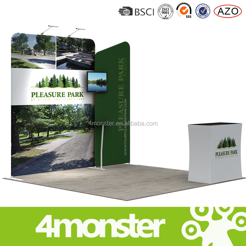 china wholesale portable advertising china exhibition booth design