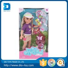 Hot selling plastic dress up doll with low price