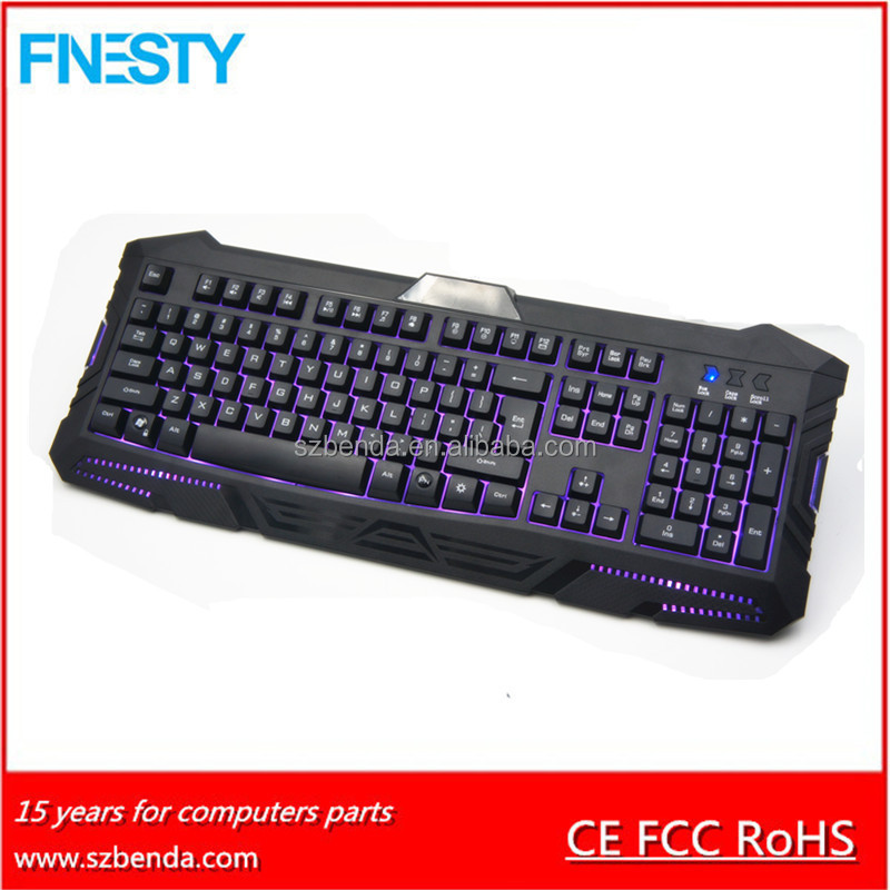 2017 Hot Selling Computer Gaming Laser Keyboard With LED Backlight