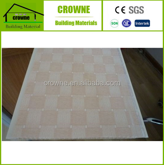 Best Selling New Building Construction Materials Wood Plastic Tiles Printed Panel Ceiling Printed PVC Ceiling and Wall Panel
