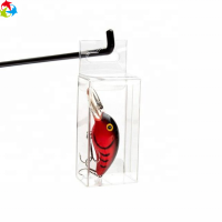 Custom Transparent Plastic Folding PET PVC Packaging Box For Fishing Lures