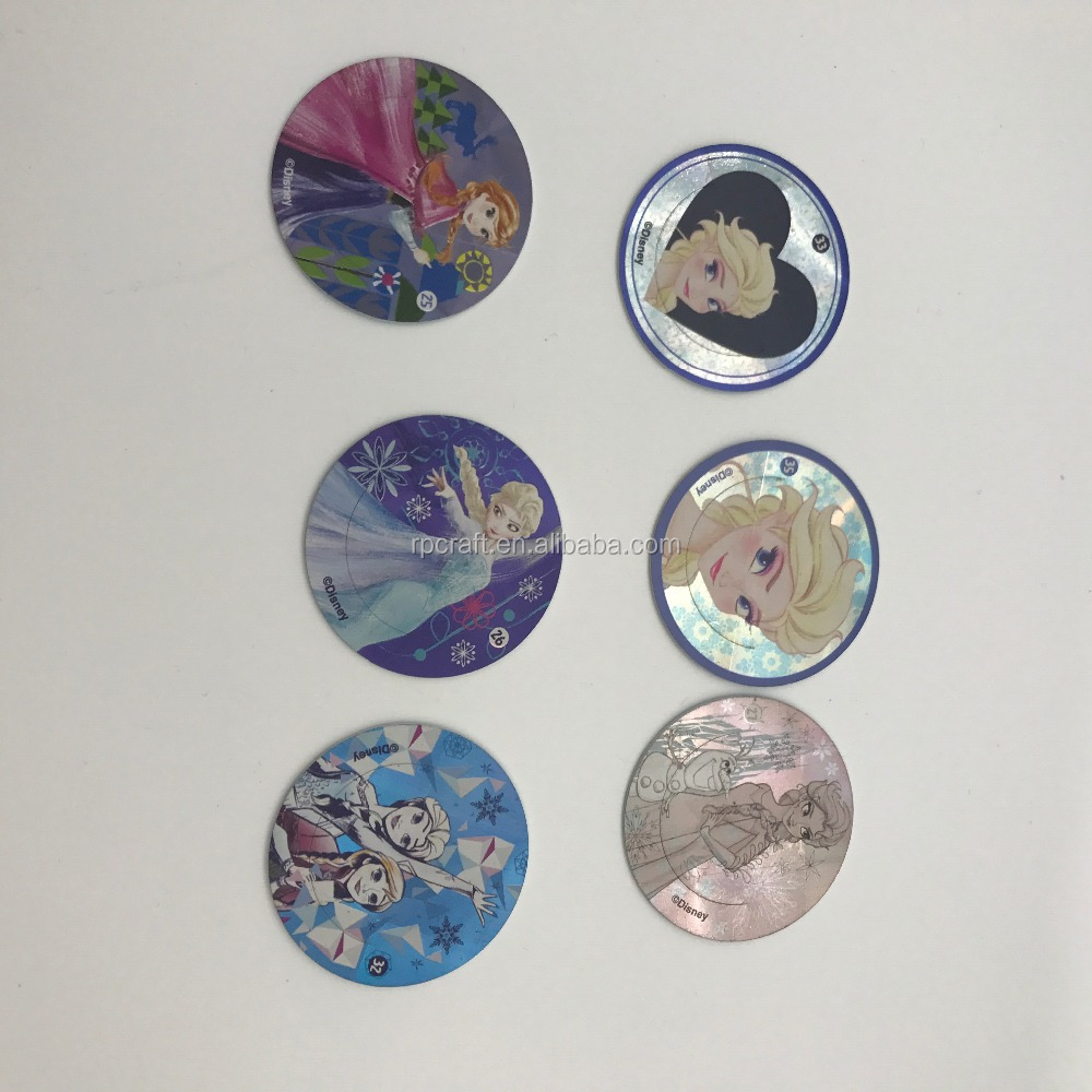 Food company promotion plastic cards, customized printing pogs, PP tazo card
