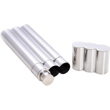 2017 New Product High Quality Stainless Steel Cigar Tube with Flask