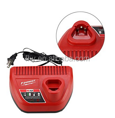 Replacement Li-ion Power Tool Charger For Milwaukee M12 12 Volt 48-59-2401 48-11-2402