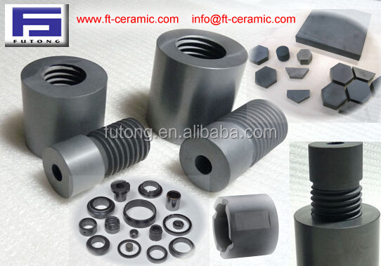 silicon carbide made Mechanical seal ring,shaft bush/sleeve,and other nonstandard parts