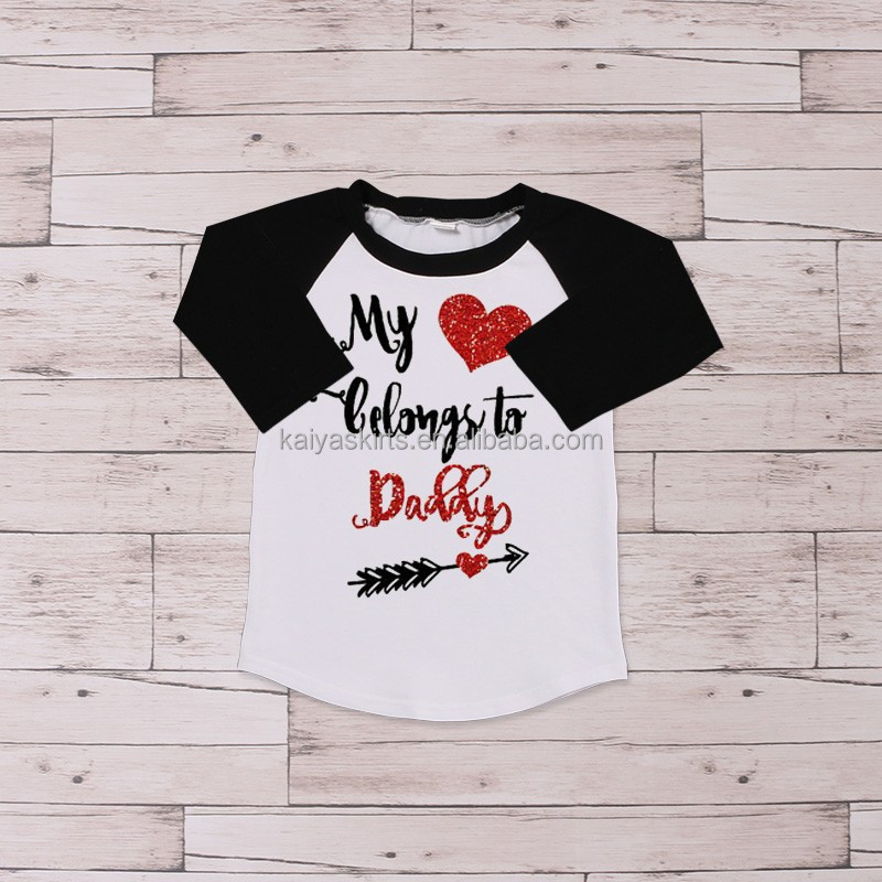 new cotton toddler baby clothes icing raglan shirts