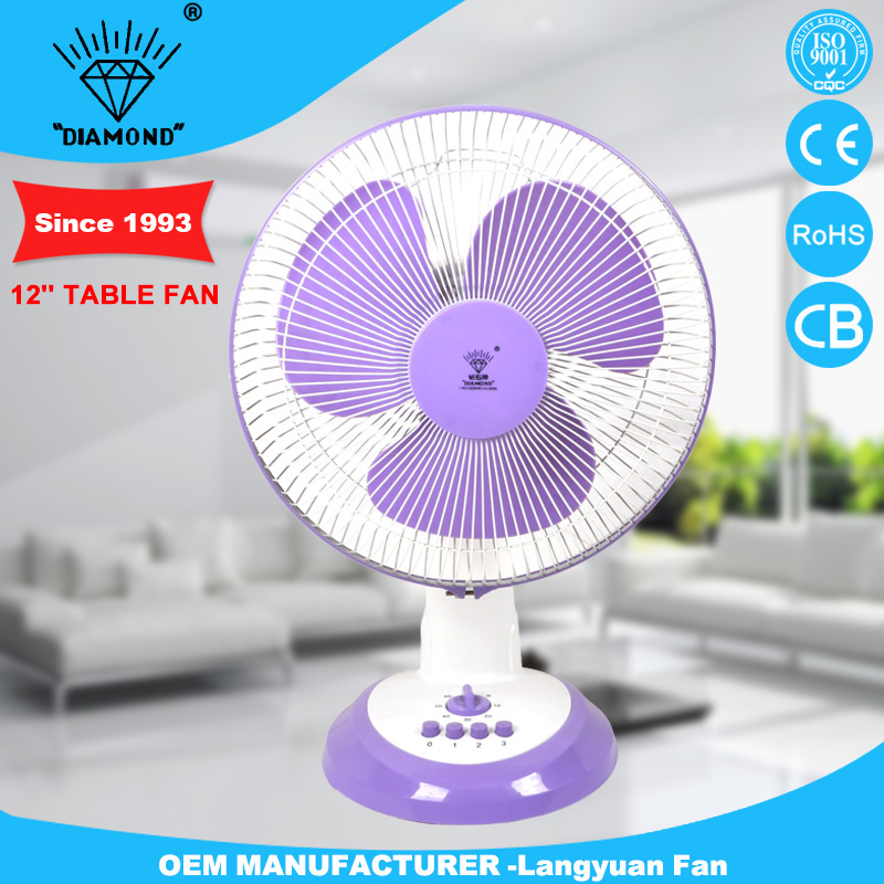 purple manufacturer custom table fan with low voice