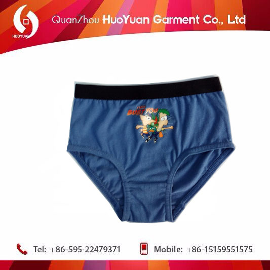 2017 China factory free sample health care black cartoon underwear for boy