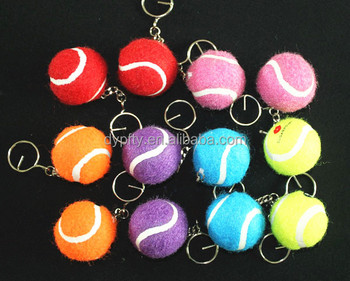 Promotional keychain tennnis ball1.5 inch