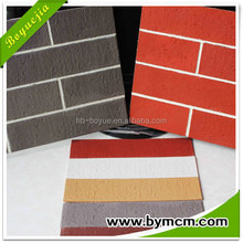 5mm thickness exterior wall decoration material self adhesive soft ceramic clay tile