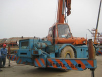 used rough terrain crane 25 ton, original from Japan RK250, low price for sale