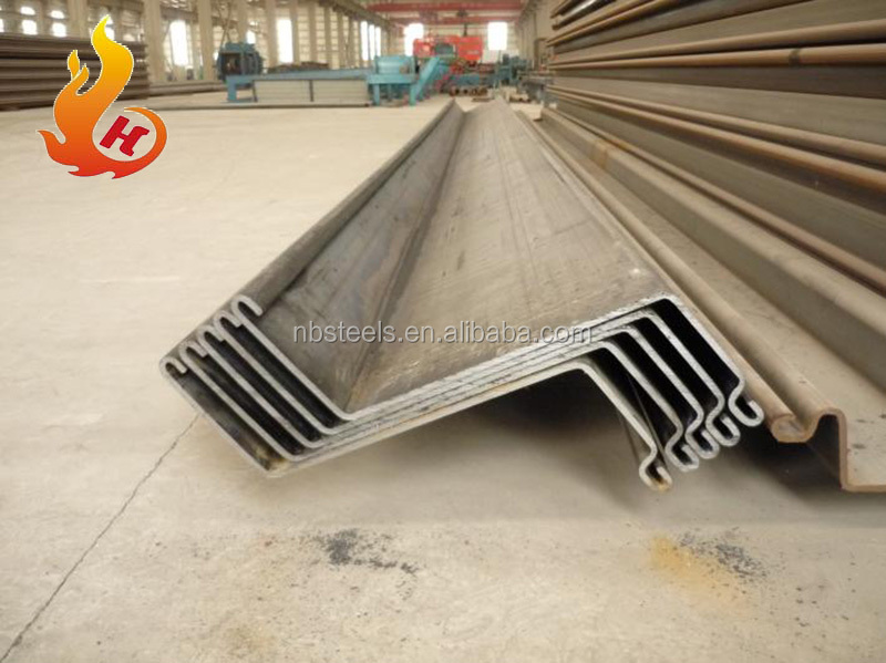 U,Z type piling sheet bar,hot rolled steel sheet pile 400 x 125mm