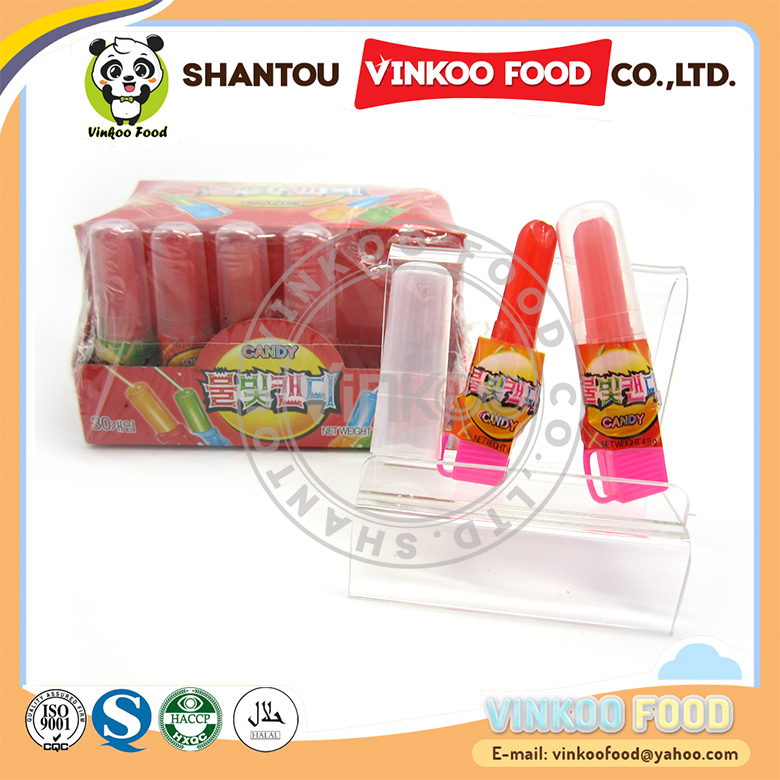 hot sale lipstick shaped sweet candy with toy