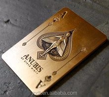 shanghai factory logo embossed cheap custom business metal card with best price