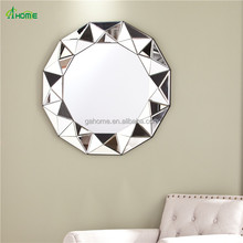 new design decorative hall wall mounted 3d mirror