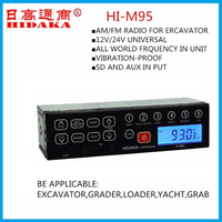 frequency AM FM Excavator radio Audio speaker Car audio Excavator Parts