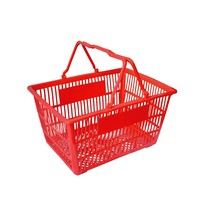 Wholesale Solid Plastic Shopping Basket With Handle