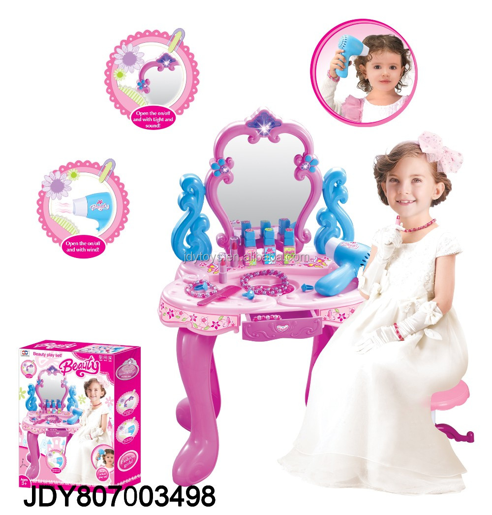 Baby toys, plastic feeding table with baby doll toys