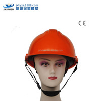 safety helmet with ce certificate with ratchet /buckle red colors ABS