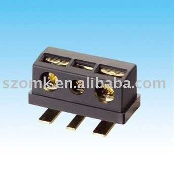 3 positions and 5mm pitch pcb black plastic barrier connector & terminal as electronic terminal block by szomk used for project