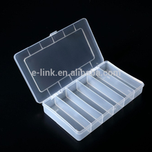 High quality 6 compartments plastic hard plastic tool storage box