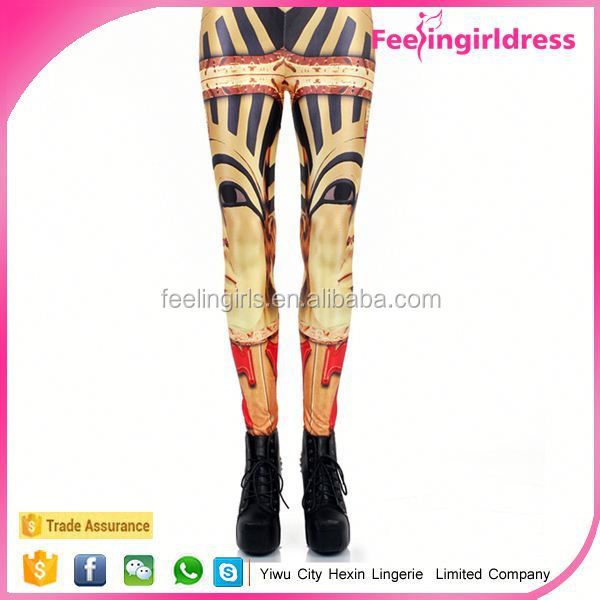 China Spandex Polyester Material Printed latest design leggings