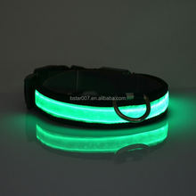 New design Colorful Adjustable led dog collar pet products hot sell products altomatic dog products
