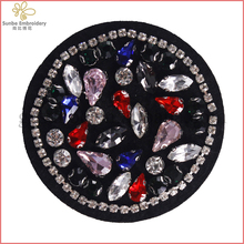 Beaded Crystal Rhinestones Badge Patches Sew on Applique Lace Patches Garment Decorated Sewing Supplies can be customized