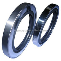 Rotating shaft seal double lips PTFE stainless steel oil seal